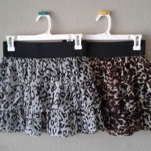 2 Leopard Print Skirts